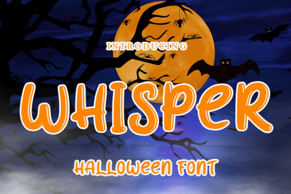 Print on Demand: Whisper Display Font By gunawanletter