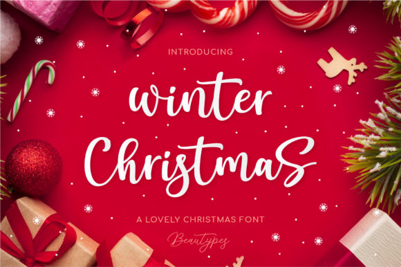 Print on Demand: Winter Christmas Script & Handwritten Font By Beautypes