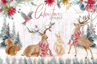 Woodland Christmas Illustrations Graphic Illustrations By Hippogifts