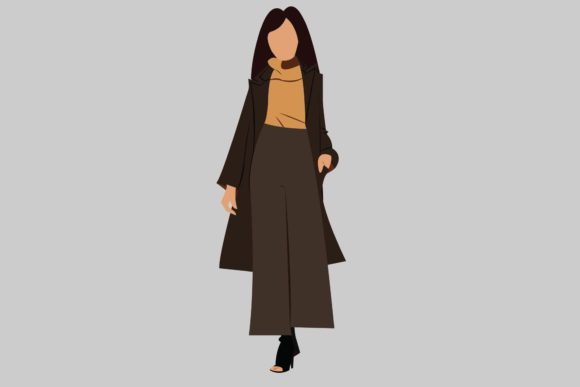 Print on Demand: Fashion Winter Woman Character Graphic Illustrations By bentestudio