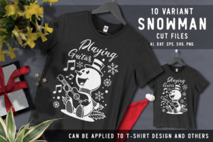 10 Variant Snowman Cut Files SVG Graphic Crafts By AllmoStudio