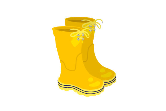 Rain Boots Spring Craft Cut File By Creative Fabrica Crafts