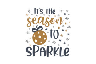 It's the Season to Sparkle Christmas Craft Cut File By Creative Fabrica Crafts