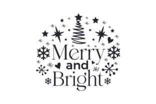Merry and Bright Christmas Craft Cut File By Creative Fabrica Crafts 2