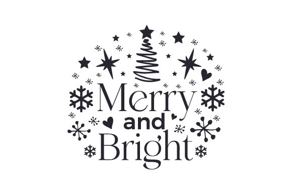 Merry and Bright Cut File Download