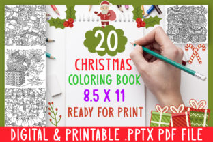 Print on Demand: 20 Christmas Coloring Book for Kids Grap Graphic Coloring Pages & Books Kids By DesignsBundles