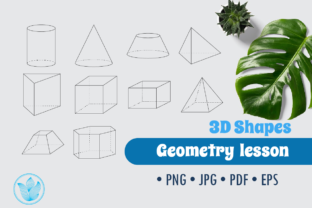 3D Shapes for Geometry, Png Clip Art Graphic 6th grade By PrettyDD 1