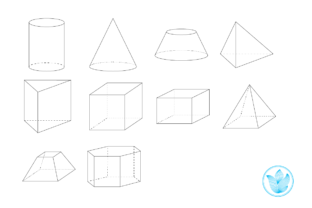 3D Shapes for Geometry, Png Clip Art Graphic 6th grade By PrettyDD 2