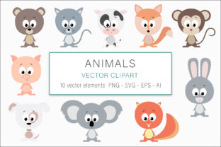 Print on Demand: Animals Vector Illustrations Graphic Illustrations By AS Digitale