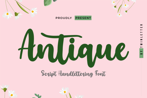 Print on Demand: Antique Script & Handwritten Font By twinletter