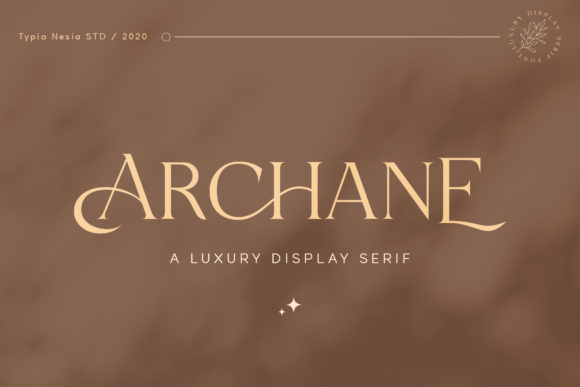 Print on Demand: Archane Serif Font By Typia Nesia