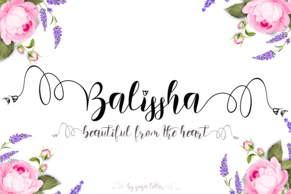 Print on Demand: Balissha Script & Handwritten Font By yogaletter6