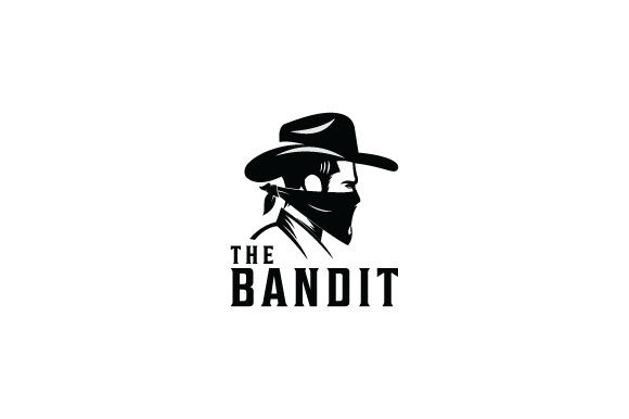Print on Demand: Bandit Badge Logo Design Illustraton Graphic Logos By Prosperos