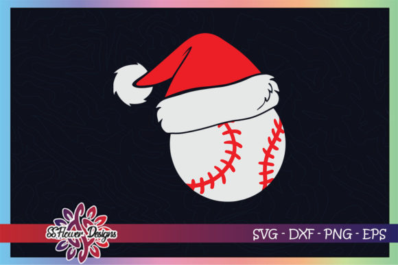 Baseball Ball Santa Christmas Hat Graphic Print Templates By ssflower