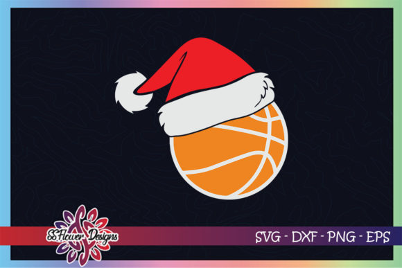 Basketball Ball Santa Christmas Hat Graphic Print Templates By ssflower