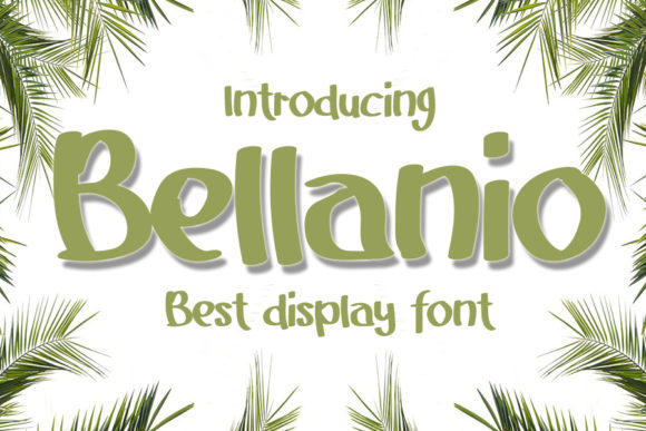 Print on Demand: Bellanio Display Font By Eddygoodboy