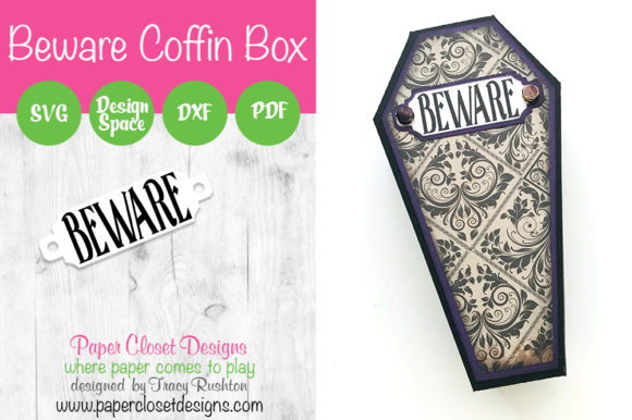 Print on Demand: Beware Coffin Box Graphic 3D SVG By rushton_tracy