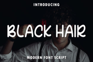 Print on Demand: Black Hair Script & Handwritten Font By rangkaiaksara