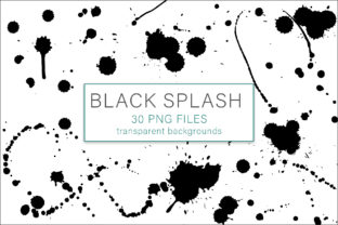 Print on Demand: Black Splash Bundle Graphic Objects By AS Digitale