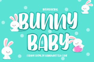 Print on Demand: Bunny Baby Display Font By FatmaStudio