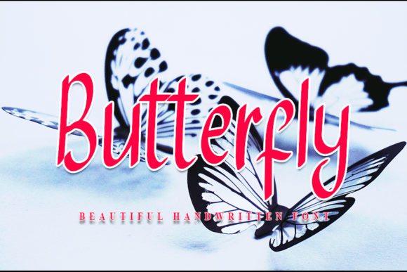 Print on Demand: Butterfly Script & Handwritten Font By NYA Letter