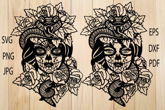 Print on Demand: Calavera, Female Sugar Skull Graphic Crafts By yulnniya