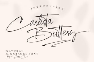 Print on Demand: Carlista Buttery Script & Handwritten Font By HansCo