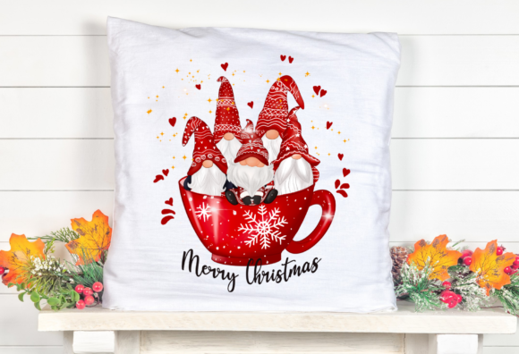Christmas Cup Cute Gnomes Sublimation Graphic Item