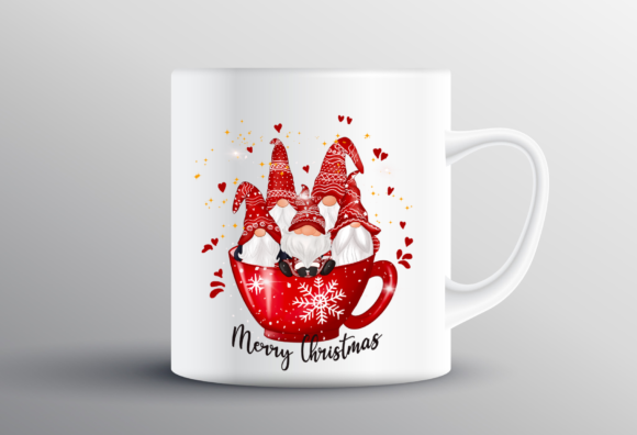Christmas Cup Cute Gnomes Sublimation Graphic Design