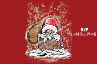 Print on Demand: Christmas Gnome Santa Claus Chimney PNG Graphic Crafts By KtwoP