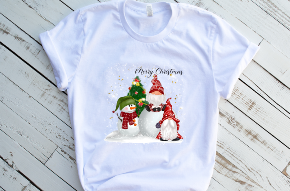 Christmas Gnomes Cute Snow Sublimation Graphic Download