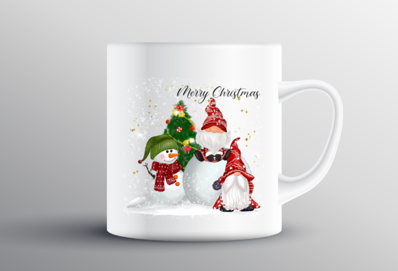 Christmas Gnomes Cute Snow Sublimation Graphic Preview