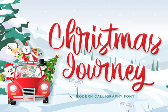Print on Demand: Christmas Journey Script & Handwritten Schriftarten von thomasaradea