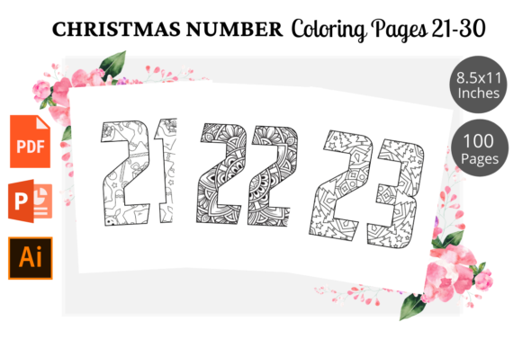 Print on Demand: Christmas Number Coloring Page 21-30 Graphic KDP Interiors By KDPWarrior