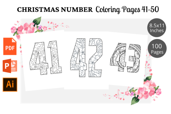 Christmas Number Coloring Page 41 50 Graphic By Kdpwarrior Creative Fabrica