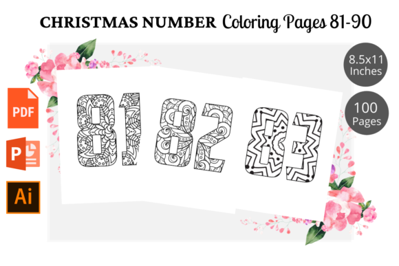 Print on Demand: Christmas Number Coloring Page 81-90 Graphic KDP Interiors By KDPWarrior
