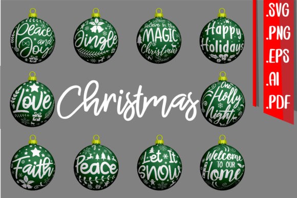 Christmas Text Ornament Rounded Graphic Crafts By assalwaassalwa