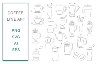 Print on Demand: Coffee Lineart Vector Illustration Graphic Illustrations By AS Digitale