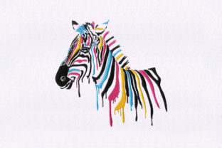 Color Dripping Horse Horses Embroidery Design By DigitEMB