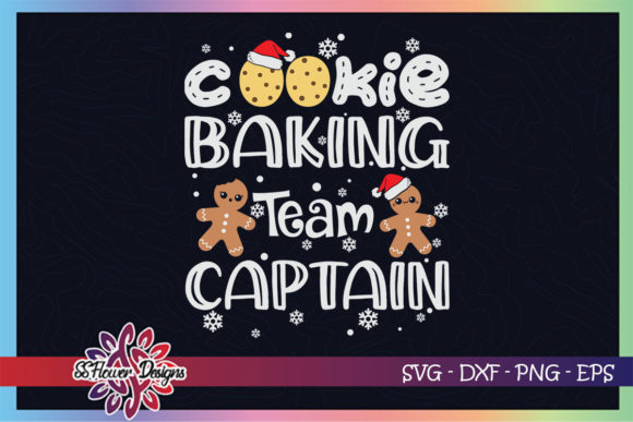 Cookie Baking Team Captain Gingerbread Graphic Print Templates By ssflower