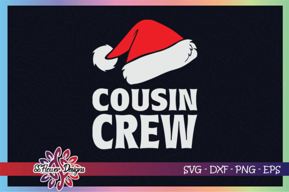 Cousin Crew Santa Christmas Family Graphic Print Templates By ssflower