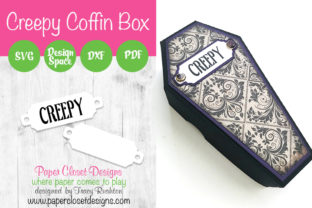 Print on Demand: Creepy Coffin Box Graphic 3D SVG By rushton_tracy