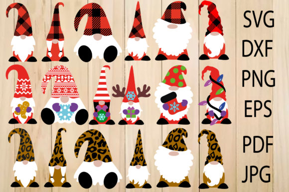 Print on Demand: Cute Christmas Gnomes, Gnome Cut File Graphic Crafts By yulnniya