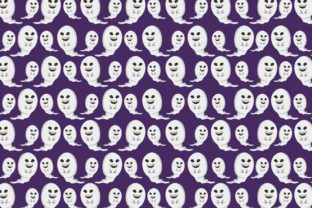Print on Demand: Cute Halloween Ghost Pattern Graphic Crafts By Arief Sapta Adjie II