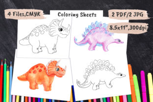 Dinosaur Kids Coloring Pages PDF, JPEG Graphic Coloring Pages & Books Kids By artpanda2018
