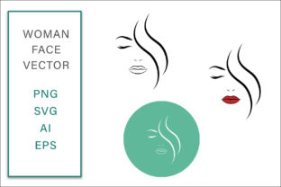 Print on Demand: Feminine Face Vector Line Art Logo Graphic Crafts By AS Digitale