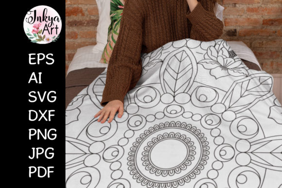 Flower Mandala Sublimation Graphic Crafts By InkyaArt
