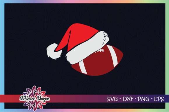 FootBall Ball Santa Christmas Hat Graphic Print Templates By ssflower