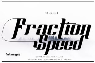Print on Demand: Fraction Speed Display Font By jehansyah251