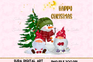 Print on Demand: Gnomes Christmas Cute Snow Sublimation Graphic Illustrations By Suda Digital Art